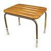 AKW Wooden Slatted Shower Stool profile small image view 1