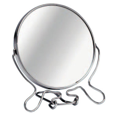 Large Chrome Shaving Mirror with Stand - 0509257 Large Image