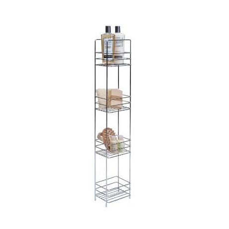 Lloyd Pascal - 4 Tier Tall Slim line Bathroom Caddy - Chrome ...