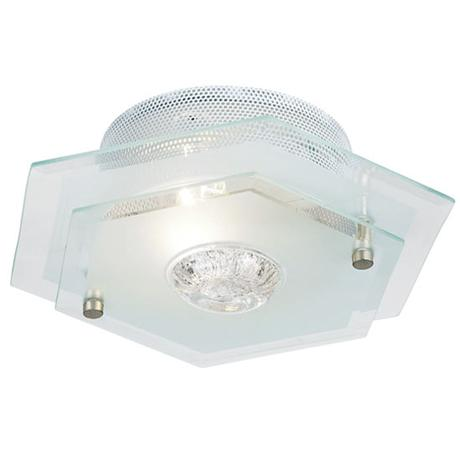 Endon - Hexagon Two Tiered Glass Ceiling Light Fitting - 064-27
