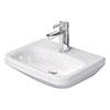 Duravit DuraStyle 450mm 1TH Wall Hung Handrinse Basin - 0708450000 profile small image view 1
