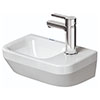 Duravit DuraStyle 360mm 1TH Wall Hung Handrinse Basin - 0713360000 profile small image view 1