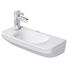 Duravit DuraStyle 500mm 1TH Wall Hung Handrinse Basin profile small image view 1
