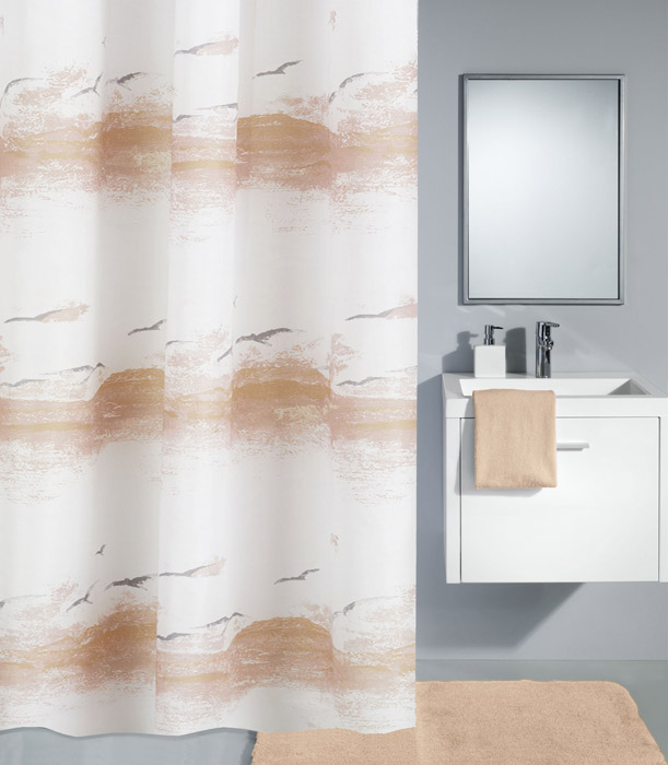 Kleine Wolke - Seaside Polyester Shower Curtain - W1800 x H2000 - Plain profile large image view 1