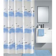 Kleine Wolke - Seaside Polyester Shower Curtain - W2400 x H1800 - Blue Medium Image