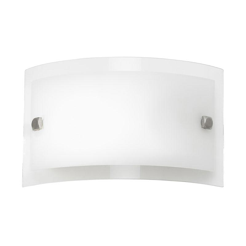 Endon - Phelps Rectangle Glass Wall Light Fitting - 095-20 Large Image