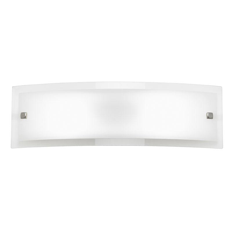 stretched glass rectangle wall light from Endon