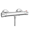 Naples Round Bottom Outlet Thermostatic Bar Shower Valve profile small image view 1