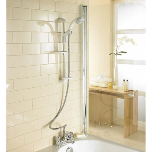 mira extra thermostatic shower mixer white and chrome thermostatic bath shower mixer tap with slide rail kit