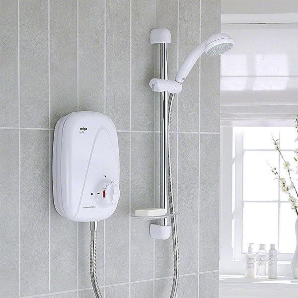 Mira - Vigour Thermostatic Power Shower - White & Chrome - 1.1532.353 profile large image view 2