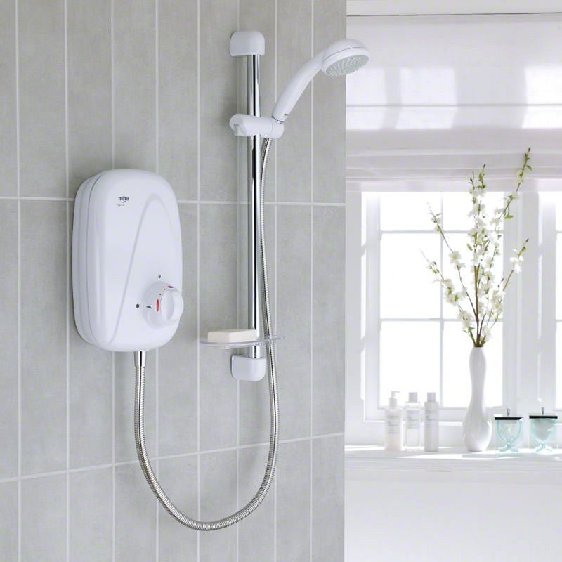 Mira - Vigour Manual Power Shower - White & Chrome - 1.1532.354 profile large image view 2