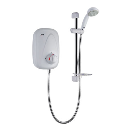 Mira - Vigour Manual Power Shower - White & Chrome - 1.1532.354