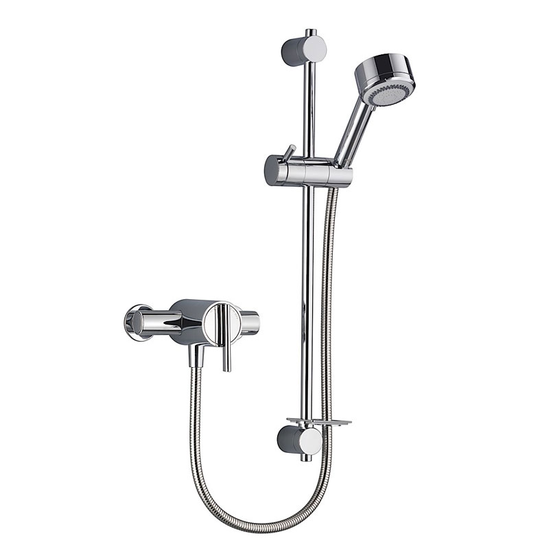 Mira - Silver EV Thermostatic Shower Mixer - Chrome - 1.1628.001 profile large image view 1