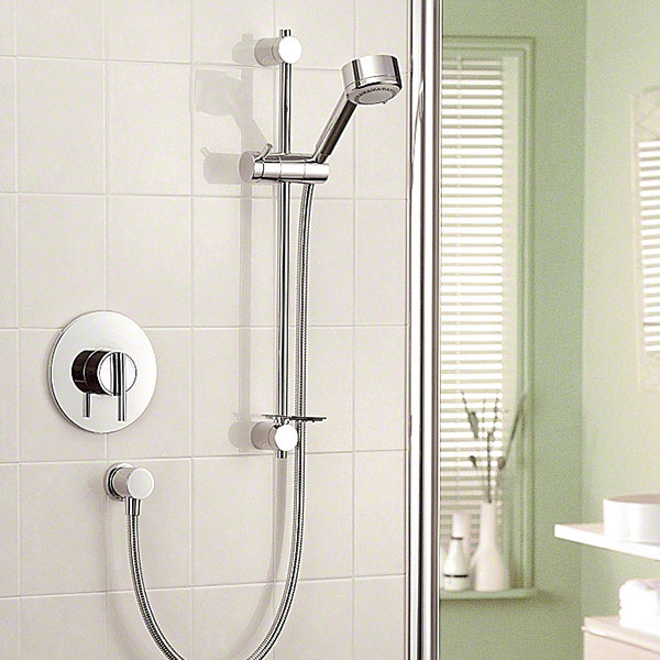 Mira - Silver BIV Thermostatic Shower Mixer - Chrome - 1.1628.002 Standard Large Image