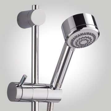 Mira - Azora 9.8kw Thermostatic Electric Shower - Frosted Glass - 1.1634.011 profile large image view 2