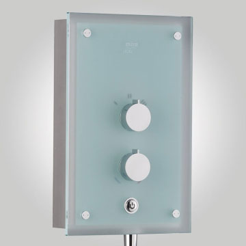 Mira - Azora 9.8kw Thermostatic Electric Shower - Frosted Glass - 1.1634.011 profile large image view 3