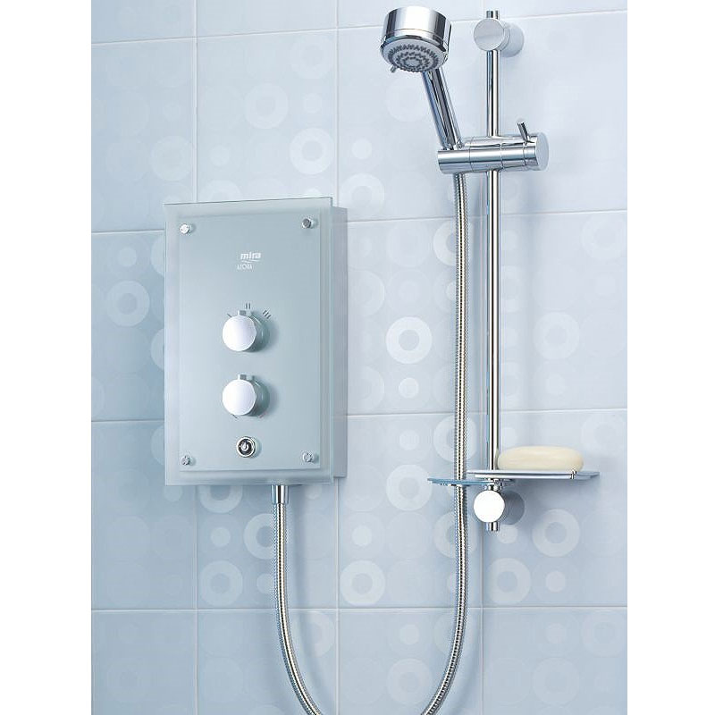 Mira - Azora 9.8kw Thermostatic Electric Shower - Frosted Glass - 1.1634.011 profile large image view 4