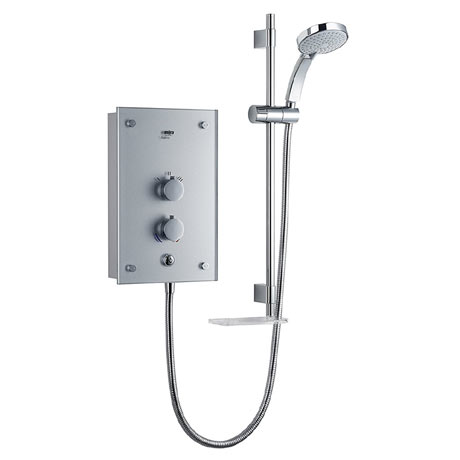 Mira Galena 9.8kW Thermostatic Electric Shower - Silver Glass - 1.1634.082