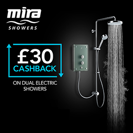 Mira Azora Dual 9.8 KW Electric Shower - Frosted Glass - 1.1634.156