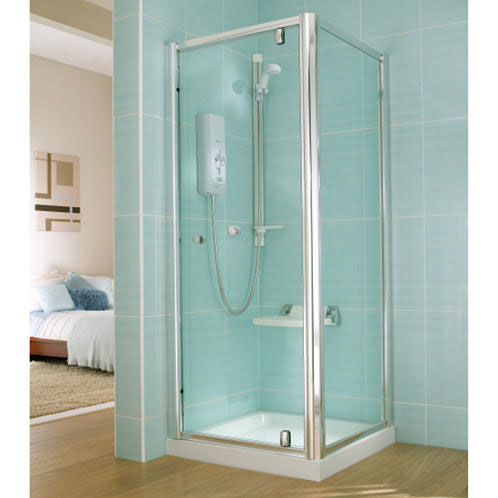 Mira - Advance ATL Flex Extra Wireless 9.0kw Thermostatic Electric Shower - White & Chrome Standard Large Image