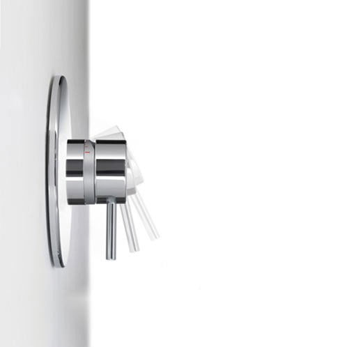Mira - Element SLT BIR Thermostatic Shower Mixer - Chrome - 1.1656.013 profile large image view 3