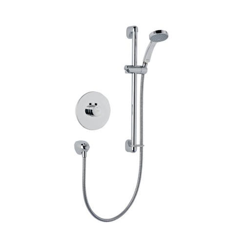 Mira - Miniduo BIV Eco Thermostatic Shower Mixer - Chrome - 1.1663.242 profile large image view 1