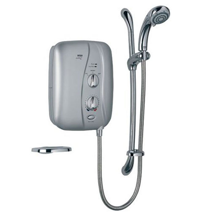 Mira - Elite ST 9.8kw Electric Shower - Satin Chrome - 1.1674.001 profile large image view 1