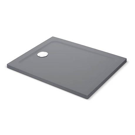 Mira Flight Safe Anti-Slip Rectangular Shower Tray - Grey Anthracite