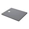 Mira Flight Safe Anti-Slip Rectangular Shower Tray - Grey Anthracite profile small image view 1