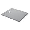 Mira Flight Safe Anti-Slip Rectangular Shower Tray - Titanium Grey profile small image view 1