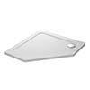 Mira Flight Safe 900 x 900mm Anti-Slip Pentagon Shower Tray profile small image view 1