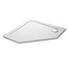 Mira Flight Low Pentagon Shower Tray 900 x 900mm profile small image view 1