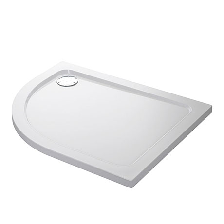 Mira Flight Low Right Hand Offset Quadrant Shower Tray