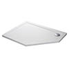 Mira Flight Safe Anti-Slip Offset Pentagon Shower Tray 1200 x 900mm profile small image view 1