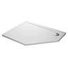 Mira Flight Safe Anti-Slip Offset Pentagon Shower Tray 1200 x 900mm profile small image view 1