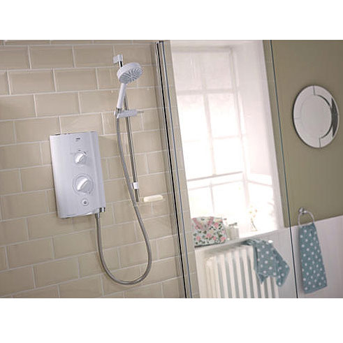 Mira - Sport 9.8kw Thermostatic Electric Shower - White & Chrome - 1.1746.006 Profile Large Image