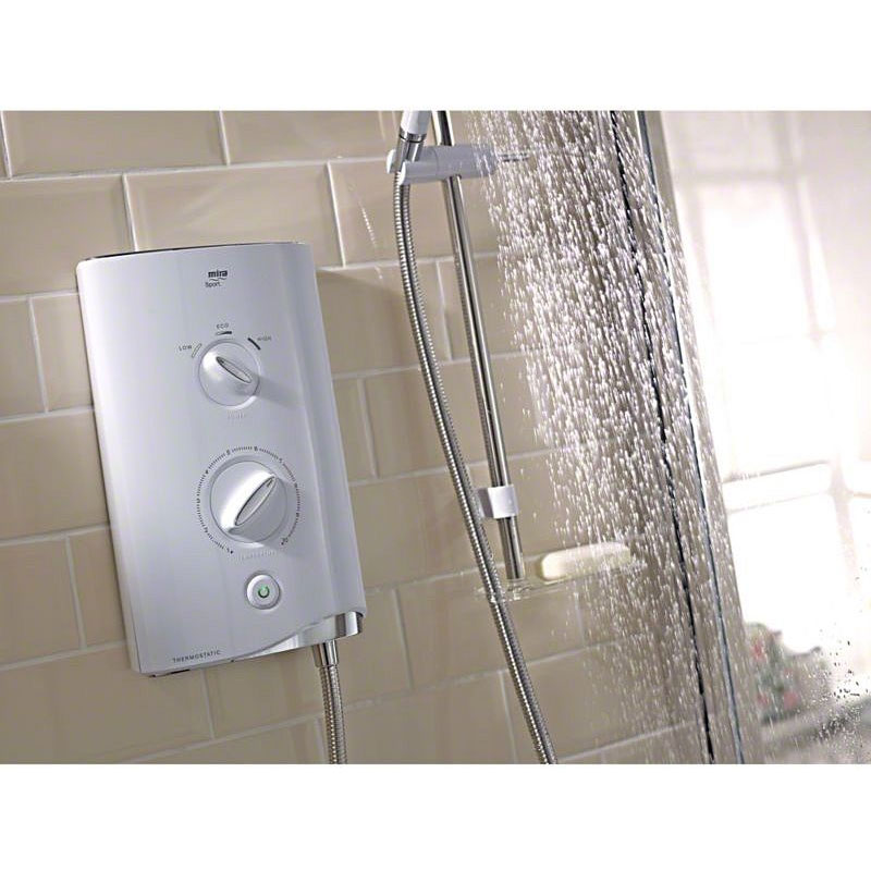 Mira - Sport 9.0kw Thermostatic Electric Shower - White & Chrome - 1.1746.005 profile large image view 3
