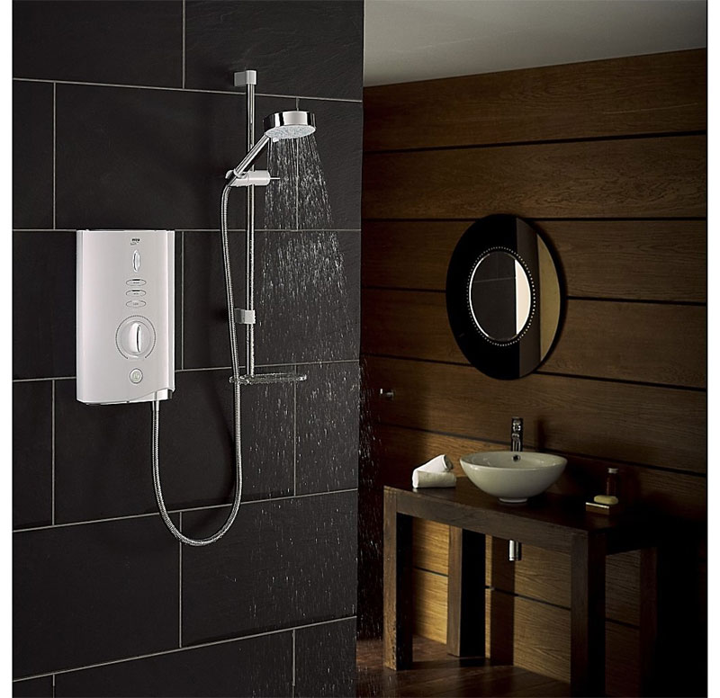 Mira - Sport Max 9.0kw Electric Shower - White & Chrome - 1.1746.007 Profile Large Image