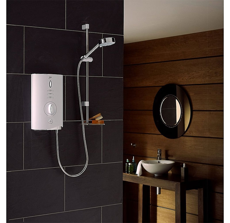 Mira - Sport Max 9.0kw Electric Shower - White & Chrome - 1.1746.007 Feature Large Image
