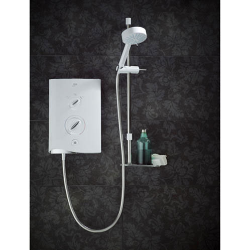 Mira - Sport Multi-fit 9.8kw Electric Shower - White & Chrome - 1.1746.010 Profile Large Image