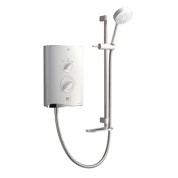 Mira - Sport Multi-fit 9.8kw Electric Shower - White & Chrome - 1.1746.010 Large Image