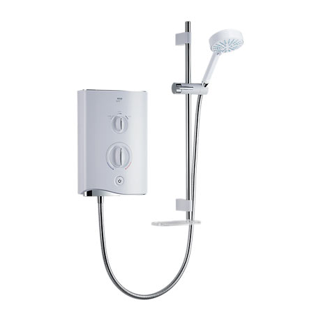 Mira - Sport Multi-fit 9.8kw Electric Shower - White & Chrome - 1.1746.010