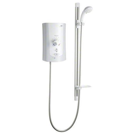 Mira - Advance Flex Low Pressure 9.0kw Thermostatic Electric Shower - White & Chrome - 1.1759.003