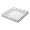 Mira Flight 900 x 900mm Square Shower Tray with 4 Upstands profile small image view 1