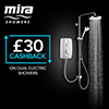 Mira Jump Dual 9.5 KW Electric Shower - White - 1.1788.578 profile small image view 1