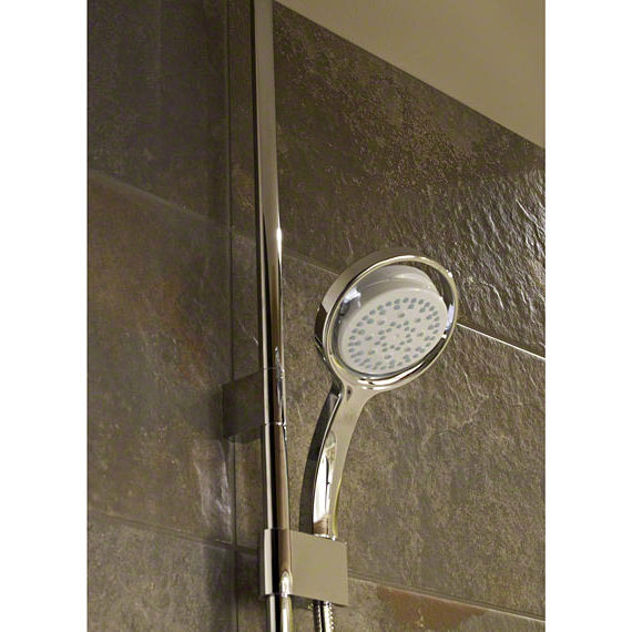 Mira - Vision BIV Ceiling Fed High Pressure Digital Thermostatic Shower Mixer - White & Chrome profile large image view 4
