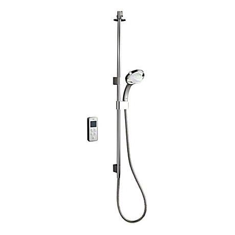 Mira - Vision BIV Ceiling Fed High Pressure Digital Thermostatic Shower Mixer - White & Chrome
