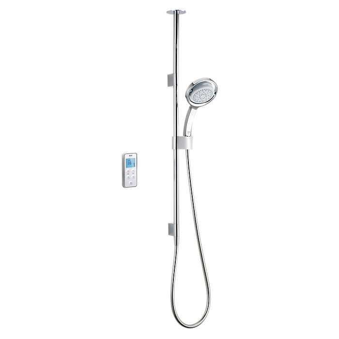 Mira Vision BIV Ceiling Fed Pumped Digital Thermostatic Shower Mixer - White & Chrome | A Quick Guide To Mira Showers