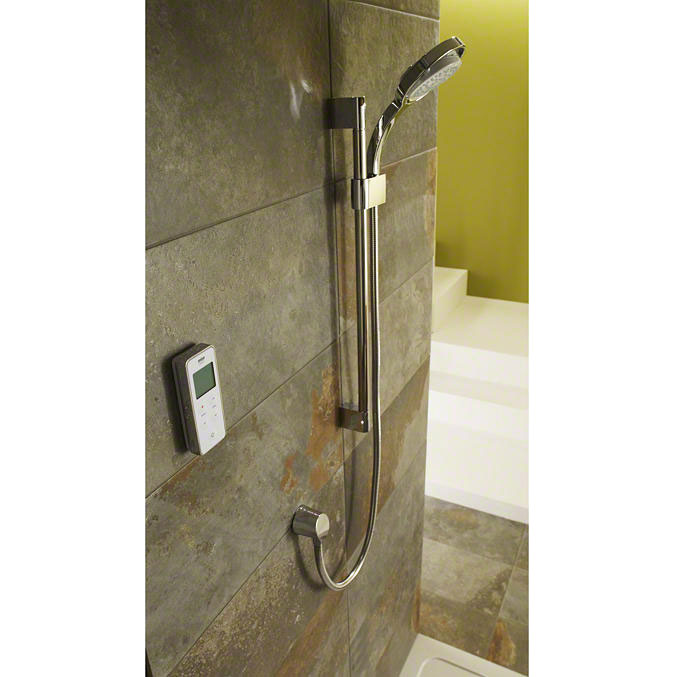 Mira - Vision BIV Rear Fed Pumped Digital Thermostatic Shower Mixer - White & Chrome Feature Large Image