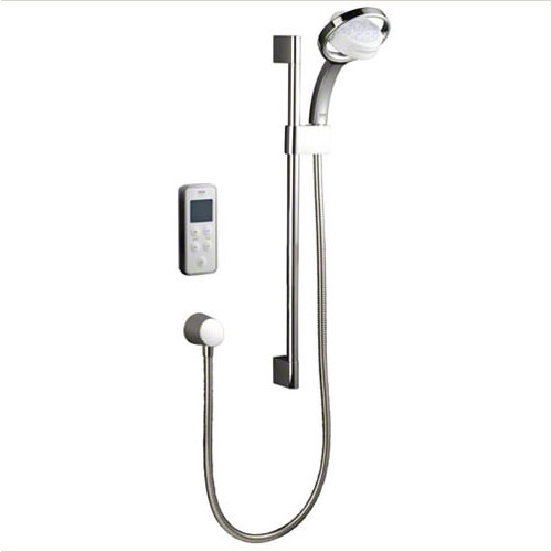 Mira - Vision BIV Rear Fed Pumped Digital Thermostatic Shower Mixer - White & Chrome Large Image